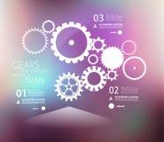 Infographic designmall med kugghjul Arkivfoto