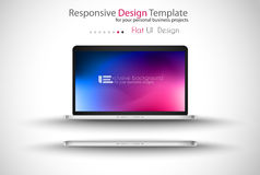 Infographic designmall med modern plan stil Arkivfoton