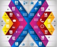 Infographic designmall med modern plan stil Royaltyfri Foto