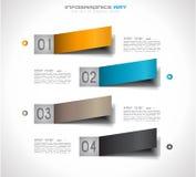 Infographic designmall med pappers- etiketter Arkivbild