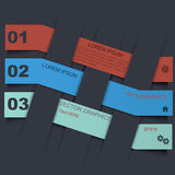 Infographic designmall med pappers- etiketter Royaltyfria Bilder