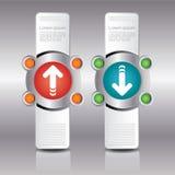 Infographic designmall och moment eller processar Arkivbilder