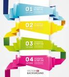 Infographic designmall, origamibaner Arkivbilder