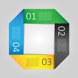 Infographic designmall. Vektorillustration Arkivfoto