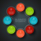 Infographic Designschablone des Vektors Stockbilder