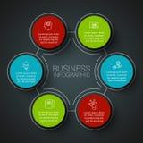 Infographic Designschablone des Vektors Stockfotografie