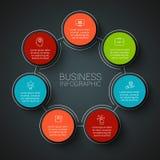 Infographic Designschablone des Vektors Lizenzfreie Stockfotografie