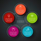 Infographic Designschablone des Vektors Lizenzfreies Stockbild