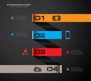Infographic-Designschablone mit Papiertags. Stockbild