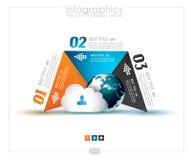 Infographic-Designschablone mit Papiertags Stockbilder