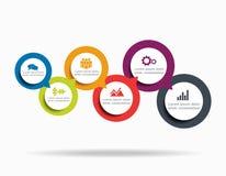 Infographic-Designschablone mit Platz für Ihre Daten Auch im corel abgehobenen Betrag Stockfotos