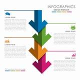Infographic-Designschablone mit Platz für Ihre Daten Auch im corel abgehobenen Betrag Lizenzfreie Stockbilder