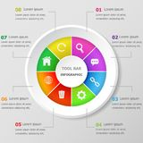 Infographic-Designschablone mit Werkzeugstangenikonen stock abbildung