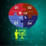 Infographic-Designschablone und Geschäftskonzept mit 4 Wahlen stock abbildung
