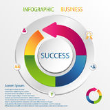 Infographic designvektor Arkivfoton