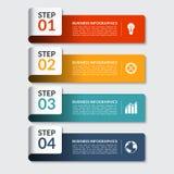 Infographic-Designzahl-Fahnenschablone Kann für Geschäft, Darstellung, Webdesign verwendet werden Stockfotografie