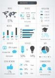 Infographic detalj Arkivfoton