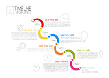 Infographic diagonal timeline report template Royalty Free Stock Image