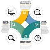 Infographic diagram stock illustrationer