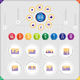 Infographic diagram Arkivfoton