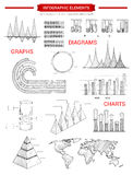 Infographic diagram charts vector sketch elements Stock Photography