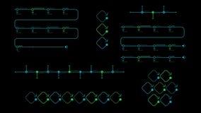Infographic diagram för Timeline på svart bakgrund