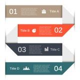 Infographic, diagram, presentatie 4 opties Royalty-vrije Stock Foto's