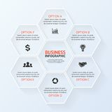 Infographic, diagram, presentation 6 options Stock Image