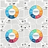 Infographic, diagram, prezentacja, wykresu set Obraz Royalty Free