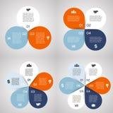 Infographic, diagrama, pasos, 3, 4, 5, 6 opciones libre illustration