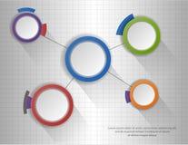 Infographic Diagramm des Kreises, Diagramm, Entwurf Stockbilder