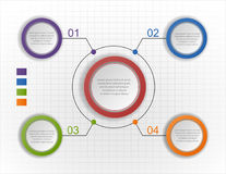 Infographic Diagramm des Kreises, Diagramm, Entwurf Stockbild