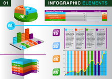 INFOGRAPHIC Diagramm ELEMENT Stockfoto
