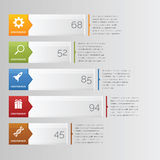 Infographic-Diagramm-Stange horizontal lizenzfreie stockbilder