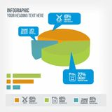 Infrastructure information in piechart infographic Stock Photo