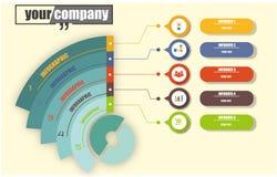 Infographic dla biznesowego obieg ilustracji