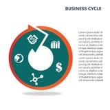 Infographic dla biznesowego pojęcia ilustracja wektor