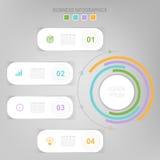 Infographic do elemento do círculo, projeto liso do ícone do negócio Fotografia de Stock Royalty Free