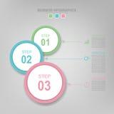 Infographic do elemento do círculo, projeto liso do vetor do ícone do negócio Fotografia de Stock