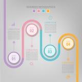 Infographic do elemento do círculo, projeto liso do vetor do ícone do negócio Foto de Stock Royalty Free