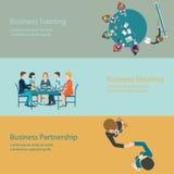 Infographic do projeto da reunião de negócios Ilustração Royalty Free