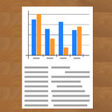 Infographic document vector. Design annual report illustration Royalty Free Stock Photos