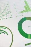 Infographic Dokumente und Geschäft des Diagramms analysieren stockbild