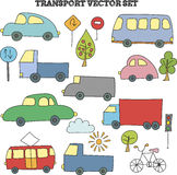 Infographic doodle transport set Royalty Free Stock Images