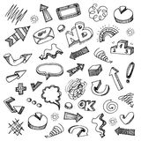 Infographic doodles collection Stock Photos