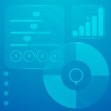 Infographic dotyka panel z mnóstwo symbolami i elementami Obrazy Stock