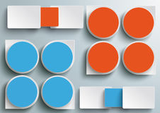 Infographic Drops Batched Rectangels Blue Orange P Royalty Free Stock Images