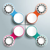 Infographic Drops Black Gears 4 Colored Circles Cr Royalty Free Stock Photo