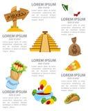 Infographic du Mexique Photographie stock libre de droits
