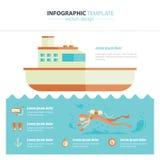 Infographic duiken Royalty-vrije Stock Afbeeldingen